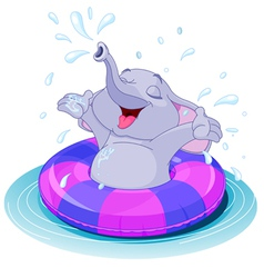 Summer fun elephant vector