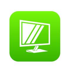 tv icon green vector image