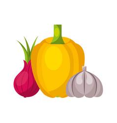 vegetables organic fresh healthy food vector image