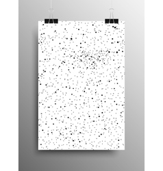 Vertical Poster Snow Falling Ash Cinder vector
