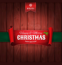vintage christmas greetings background vector image