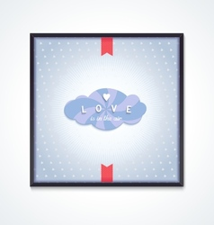 Volumetric cloud with pattern and inscription vector