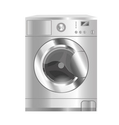 Washer home appliances isolated on a white vector