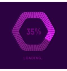 Web preloader Download bar vector image