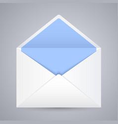 white blue blank envelope gray background vector image