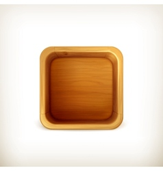 Wooden box app icon vector image