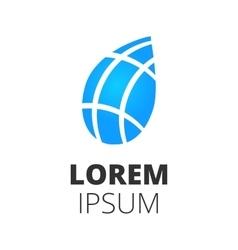 blue leaf logo vector image