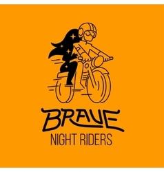 brave night riders vector image