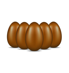 chocolate eggs standing in formation vector image