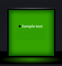 green light box vector image vector image
