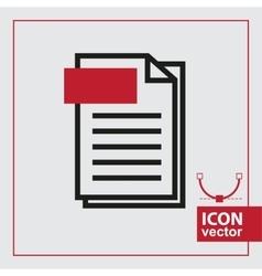 Page Simple Icon vector image vector image