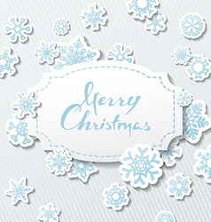 Paper Christmas background vector image vector image