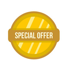 special offer label icon flat style vector image vector image