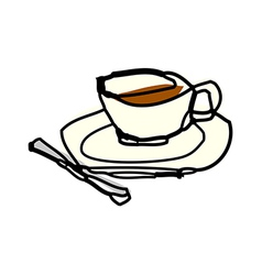 A cup of tea vector image