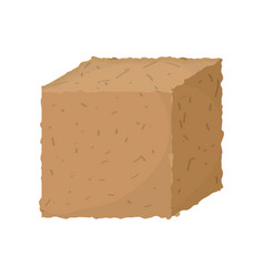 Ground cube isolated vector