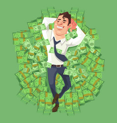 happy smiling rich businessman character vector image vector image