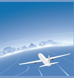 naples skyline flight destination vector image vector image