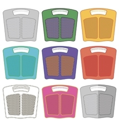 Set of Colorful Body Weigh Scales vector image