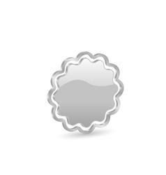 3d silver web label vector image