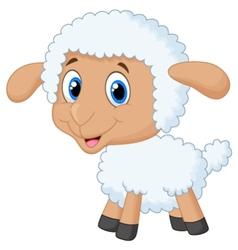 Cute lamb cartoon vector image vector image
