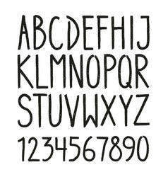 hand drawn hipster vintage letters vector image vector image