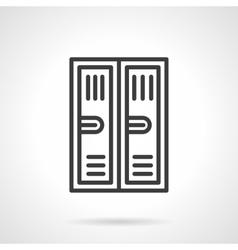 Locker black line icon vector image