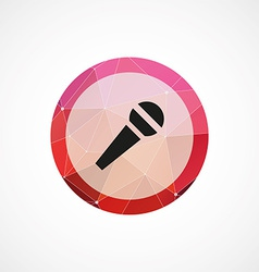 microphone circle pink triangle background icon vector image vector image
