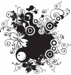 Nature floral design vector