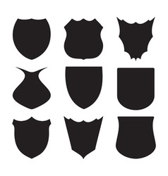 Shield silhouette vector image