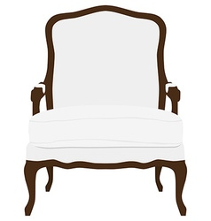 Vintage white armchair vector image vector image