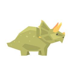 cartoon styracosaurus character jurassic period vector image