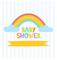 cute baby shower invitation template with letters vector image