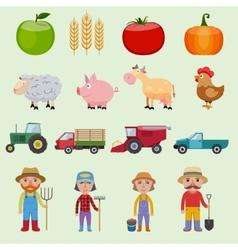 Farm icons set vector image vector image