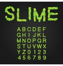 Halloween Style Typeface Green Slime Uppercase vector image vector image