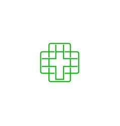 icon of christian catholic crosse medical vector image
