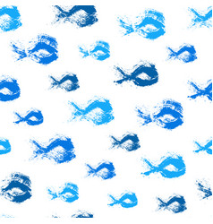 painted fish pattern background vector image vector image