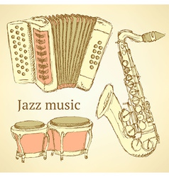Sketch musical instrument vector image vector image