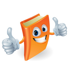 thumbs up book cartoon character vector image