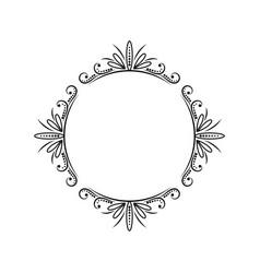 vintage round classic contour frame vector image