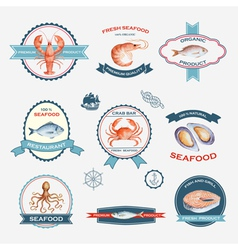 Watercolor set of labels vector image