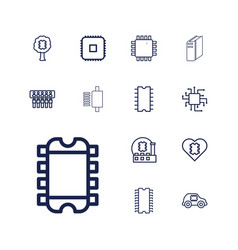 13 cpu icons vector