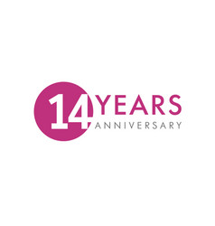 14 years logo vector