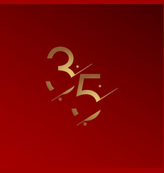 35 years anniversary celebration elegant number vector