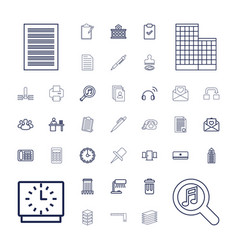 37 office icons vector