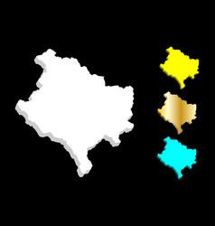 3d map of kosovo vector