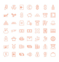 49 wealth icons vector image