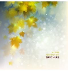 Abstract autumn background design vector