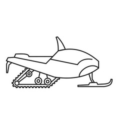 Arctic snowmobile icon outline style vector
