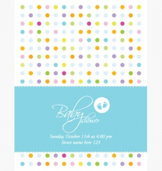 baby announcement card vector image
