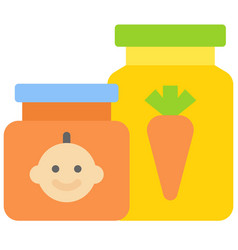 Baby food icon supermarket and shopping mall vector
